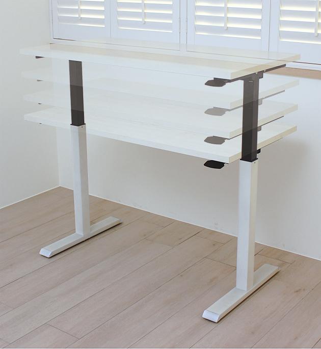 氣壓升降桌-水洗白柚木紋 1