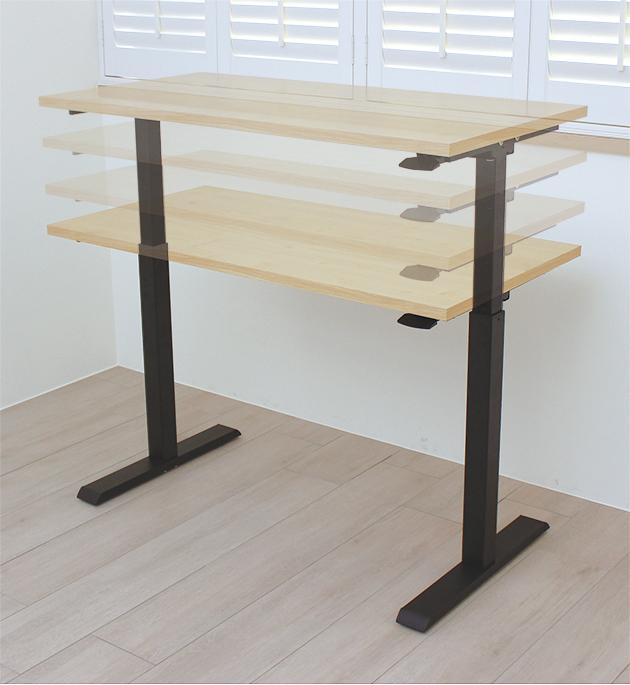 氣壓升降桌-北歐楓木紋 1